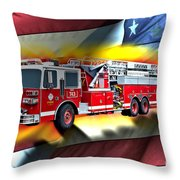 Orange Fire Auth T43 Throw Pillow