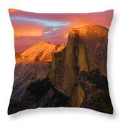 Orange Half Dome Throw Pillow