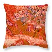 Orange Joy Throw Pillow