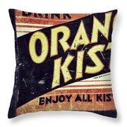 Orange Kist Throw Pillow