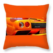 Orange Lamborghinni  Throw Pillow