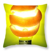 Orange Lamp Throw Pillow