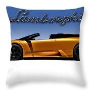 Orange Murcielago Throw Pillow