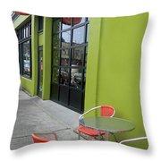 Orange Neon Coffee Throw Pillow
