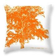 Orange Oak Throw Pillow