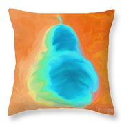Orange Pearspective Throw Pillow