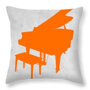Orange Piano Throw Pillow