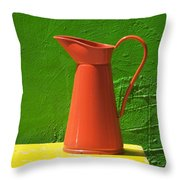 Orange Pitcher Throw Pillow by Garry Gay
