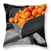 Orange Pumpkin Harvest Throw Pillow