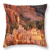 Orange Rock Formations And Trees At Throw Pillow