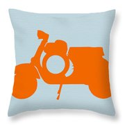 Orange Scooter Throw Pillow