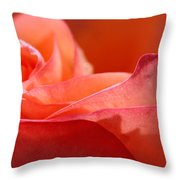 Orange Sensation Throw Pillow