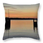 Orange September River Throw Pillow