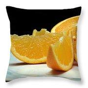 Orange Slices Throw Pillow