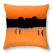 Orange Sunset Florida Throw Pillow