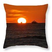 Orange Sunset II Throw Pillow