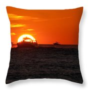 Orange Sunset IIi Throw Pillow