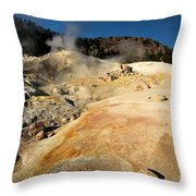 Orange Thermal Crust Throw Pillow