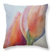 Orange Tulips I Throw Pillow