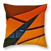 Orange Umbrella Abstract Throw Pillow