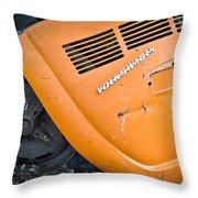 Orange Vw Bug Throw Pillow