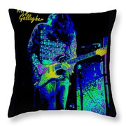 Orange Ya Glad For The Blues Throw Pillow