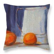 Oranges Still Life Throw Pillow