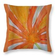 Oranje Bloemblaadje Throw Pillow