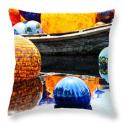 Orbs Throw Pillow by Elizabeth Hart