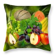 Orchard Throw Pillow by Manfred Lutzius