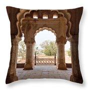 Orchha's Palace India Throw Pillow