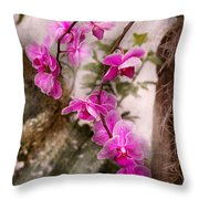 Orchid - Tropical Passion Throw Pillow