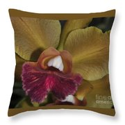 Orchid 85 Throw Pillow