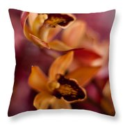 Orchid Dance Throw Pillow