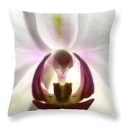 Orchid Heart 2 Throw Pillow