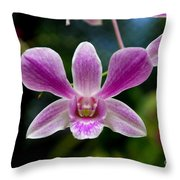 Orchid In Kandy Throw Pillow
