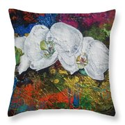 Orchid Mini Throw Pillow