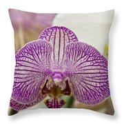 Orchid Originality Throw Pillow