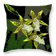 Orchid Trilogy Throw Pillow