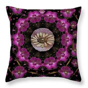Orchids And Fantasy Flowers Throw Pillow