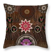Orchids And Leather Throw Pillow