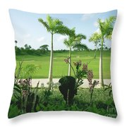 Orchids At Iberostar Golf Course In Punta Cana Dr Throw Pillow