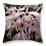 Orchids Beauty Throw Pillow