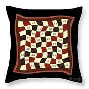 Order Nine Magic Square Puzzle Throw Pillow