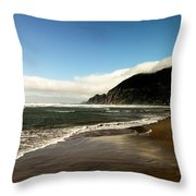 Oregon Beach Throw Pillow