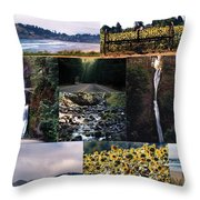 Oregon Collage From Sept 11 Pics Throw Pillow