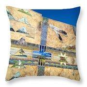 Oregon History Mural 2 Throw Pillow