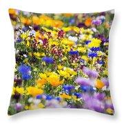 Oregon Wildflowers Throw Pillow