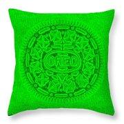 Oreo In Green Throw Pillow