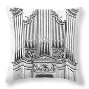 Organ, 1760 Throw Pillow